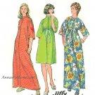 Caftan Robe Sewing Pattern 12 14 Vintage Ankle Knee Zipper Kimono Sleeve 6048