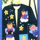 Angels Star Applique Sewing Pattern Sweatshirt Cardigan Handbag