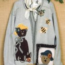 Bear Hugs Applique Sewing Pattern Bumble Bee Country Chic Sweatshirt Pillow