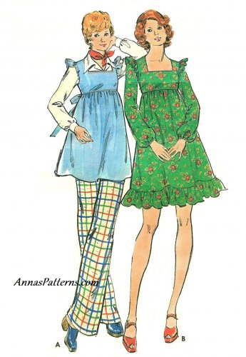 Maternity Dress Pants Sewing Pattern Vintage 10 Baby Doll Tunic Sleeveless Long Sleeve 3771