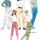 Misses Pants Sewing Pattern 4-8 Slim Drop Waist Capris Peddle Pusher 3 Lengths 8725
