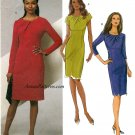 Fitted Dress Sewing Pattern 8-14 Slim Straight Knee Length Sexy Fit Easy 5382