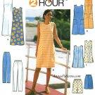 Plus Size Wardrobe Sewing Pattern 18-22 Sleeveless Dress Pants Tunic Jumper Shorts Easy 8207
