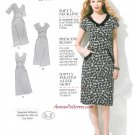 V-neck Dress Sewing Pattern 6-14 Shaped Waist Fitted Princess Seams A-line 1882