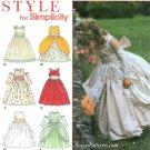 Girls Princess Dress Sewing Pattern 4-8 Cinderella Gauntlet Formal 8953
