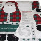 Santa Door Panel Fabric Daisy Kingdom Large 43 Inch Plaid Tartan Christmas Decor