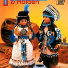 Indian Brave Maiden Crochet Doll Pattern 15 Inch Native Tribal Annies Attic