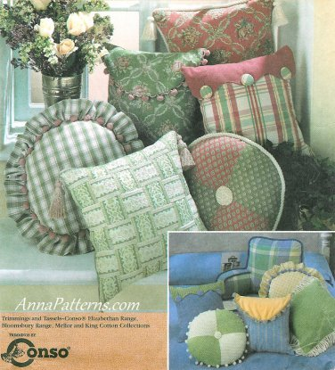 Pillows Sewing Pattern Easy Square Round Envelope Bed Rest Scallop 8859
