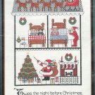 The Night Before Christmas Counted Thread Cross Stitch Kit Vintage Christmas 9 x 17