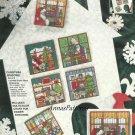 Christmas Windows Ornaments Cross Stitch Kit Tree Santa Gift Tags Bucilla 3 x 3