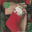 Bucilla Christmas Toys Stocking Kit Cross Stitch 18 Inch Red Velvet