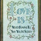 Love Is Never Having To Say You're Sorry Stamped Embroidery Kit 1975 Vogart 8 x 10 Linen