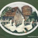 Ducks Gone A Calling Stamped Stitchery Kit Crewel Embroidery Farm Barn 10 x 8 Simplicity