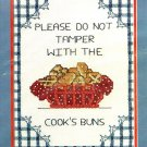 Cooks Buns Stamped Cross Stitch Kit Golden Bee Country Kitchen Cooking 8 x 10