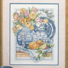Blue Willowware Counted Cross Stitch Kit Bucilla Kitchen Table Flower Pot 11 x 14
