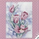 Springtime In Pink Cross Stitch Kit Flowers Mat Easy Weekender 8 x 10