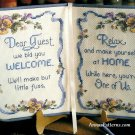 Dear Guest Welcome Cross Stitch Kit Book Home Best Sellers Keepsakes