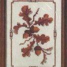 Creative Circle Acorn Cross Stitch Kit Fall Nature Vintage Aida 5 x 7 Sealed