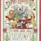 Noah's Ark Merry Christmas Cross Stitch Kit Sampler 15 x 19 Dimensions Sunset