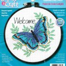 Dimensions Easy Cross Stitch Kit Butterfly Aqua Green Blue Beginner Hoop 6 Inch