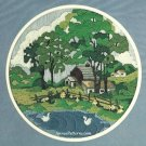 Farm Scene Longstitch Needlepoint Embroidery Kit Tree Barn Pond Ducks Vintage Something Special
