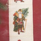 Janlynn Christmas Cross Stitch Kit Antique Santa Bell Pull Holiday Craft