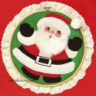 Santa Claus Hoop Applique 10 Inch Christmas Holiday Craft Vintage Designs For Needle
