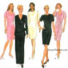 Mock Wrap Front Dress Sewing Pattern Easy 6-10 Short Long Sleeve Fitted 9352