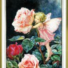 Rose Fairy Flower Fairies Cross Stitch Kit 9 x 12 Printed Aida Cicely Barker Designs For The Needle