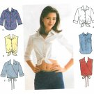 Daisy Duke Shirt Sewing Pattern Plus 14-20 Wrap Front Button Sleeveless 3/4 Sleeve 9200