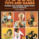 Wooden Toys Games For Children How To Make Patterns Instructions Book