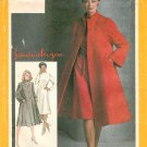 Swing Coat Sewing Pattern 10 Vintage Lined Dress Jacket Mandarin Funnel Neck Tent Shape Trigere 9712
