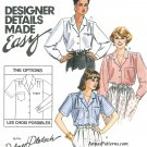 Easy Blouse Sewing Pattern 12 Button Front Short Long Sleeve Dress Career 4880