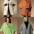 Cowl Neck Tunic Top Sewing Pattern 16-26 Poncho Cape Wrap Easy 5993