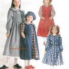 Girls Prairie Dress Sewing Pattern 10-14 Annie Jumper Long Short Sleeve Below Knee 7846