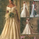 Off Shoulder Wedding Dress Sewing Pattern 10 Victorian Bridal Gown Lace Bodice Train Bridesmaid 6951