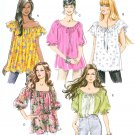 Easy Pullover Top Sewing Pattern 16-26 Plus Elastic Neck Peasant Blouse Loose Fit 5357