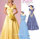 Retro 50s Bridal Formal Gown Dress Sewing Pattern Plus 14-22 Off Shoulder Prom Bridesmaid 6022