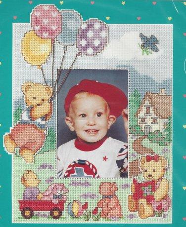 Buttercup Lane Cross Stitch Photo Frame Kit Bear Balloons Child Easy Baby Hugs