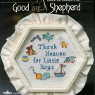 Thank Heaven For Little Boys Cross Stitch Kit Good Shepherd Frame Aida 6 x 7