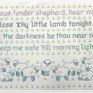 Jesus Tender Shepherd Stamped Cross Stitch Kit Child Prayer Lamb 14 x 18 Vintage Bernat