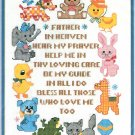 Heavenly Prayer Cross Stitch Kit Child Nursery Animals Bucilla Vintage 11 x 14 Aida