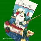Bucilla Christmas Stocking Kit Fishing Santa 1997 Boat Lake Nautical Embroidery Holiday Decor