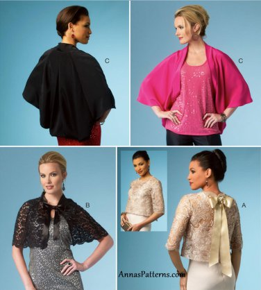 Capelet Kimono Shrug Sewing Pattern 16-26 Plus Wrap Bolero Jacket 5992