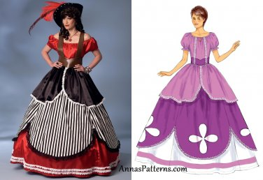 Misses Gown Costume Sewing Pattern S-XL Pirate Princess Queen 6113