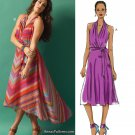 Sleeveless Dress Sewing Pattern 14-22 Plus Easy Wrap Bodice Gypsy Boho 5886
