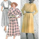 Belted Dress Sewing Pattern 12 16 Vtg 80s Kimono Below Knee Broad Shoulder 3336