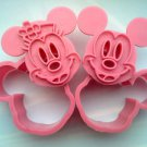 Mickey & Minnie Mouse Fondant Toast Cookie Cutter Stamp Stencil Mold Press