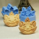 Marie the Cat Fondant Toast Cookie Cutter Stamp Stencil Mold Press