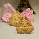 Chip N Dale Fondant Toast Cookie Cutter Stamp Stencil Mold Press
